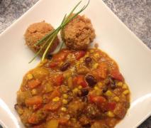 afrikanischer eintopf mit couscous