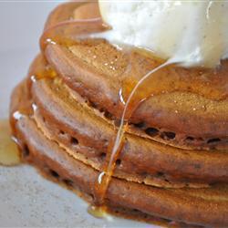 amerikanische gingerbread pancakes frühstückspfannkuchen mit lebkuchengeschmack