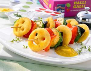 amp quot halli galli amp quot spieße mit paprika curry dip und kresse joghurt dip
