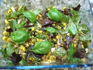 apfel mais salat mit feta