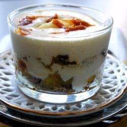 apfel trifle mit lebkuchen und karamell