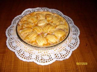 apfeltarte mit vanillepudding im flavorwave oven gebacken
