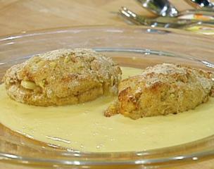 apfeltaschen aus kartoffelteig mit vanillesauce