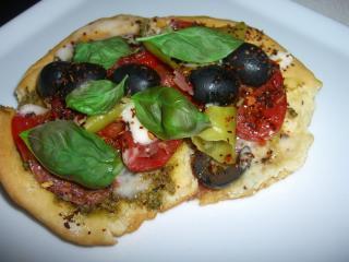 artischocken fladenbrot pizza