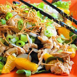 asiatischer salat mit huhn