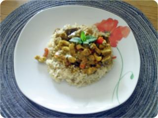 auberginen curry vegetarisch