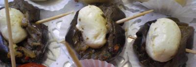 auberginen mit mozzarella