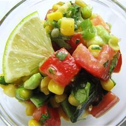 avocado mais salat mit limettendressing