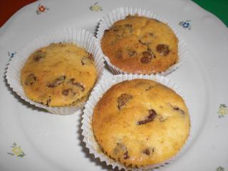 banane rosinen muffins
