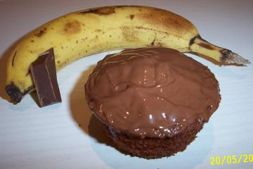 bananen schoko muffins mit buttermilch