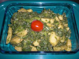 basilikum kartoffelsalat