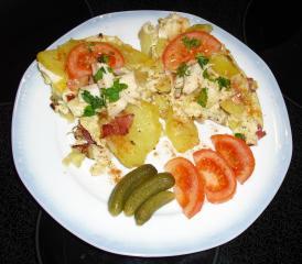 bauernfrühstück mit forellen