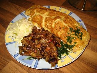 bauernfrühstück mit pilzen