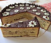 baumkuchen mit schokoladenguss