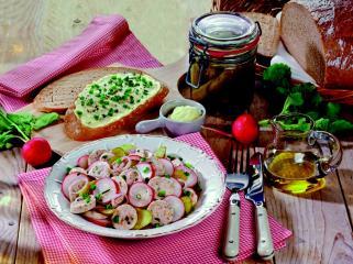 bayerischer weißwurst radieschen salat