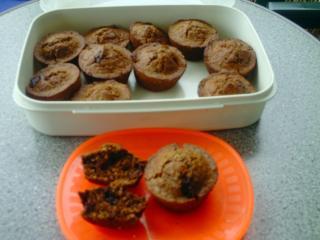birne bananen muffins mit schoko lactosefrei