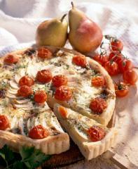 birnen gorgonzola quiche