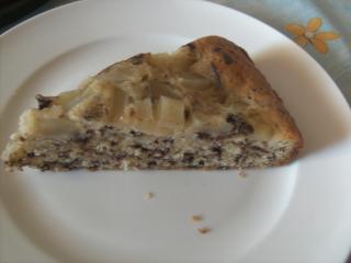 birnen schokoflocken kuchen