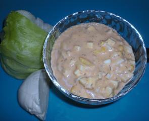 blattsalatdressing mit ei und mozzarella
