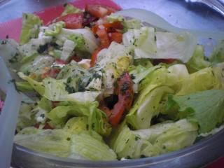 blue cheese salad salat mit blauschimmelkäse