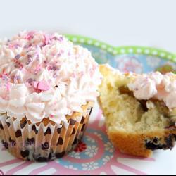 blueberry cupcakes mit weißer schokolade