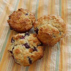 blueberry muffins mit saurer sahne