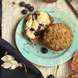 blueberry muffins mit zimtstreuseln
