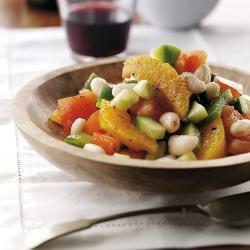 bohnen orangen salat auf andalusische art