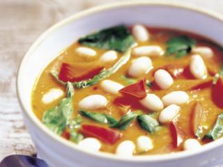 bohnen spinat suppe