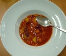 bohnensuppe mit debreziner