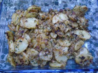 bratkartoffeln mit salami