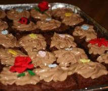brownie mit schokoladen frosting