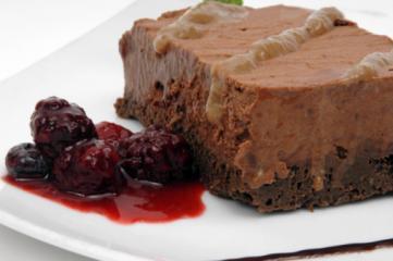 brownies mit himbeercreme