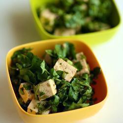 brunnenkresse salat mit tofu