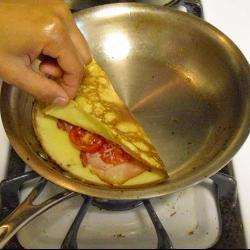 bunter pizza pfannkuchen