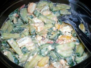 bunter salat mit schafskäse dressing