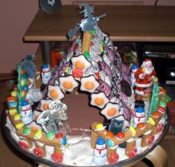 butterkekshaus knusperhäuschen zu weihnachten ohne backen