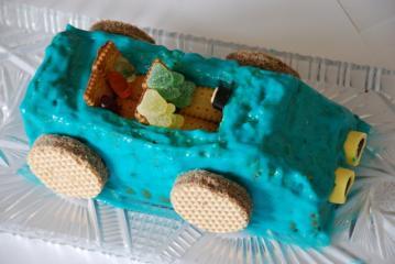 cabrio kuchen für kindergeburtstag