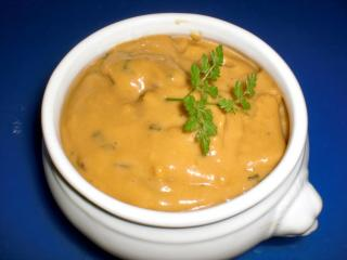 champignon mandel sauce