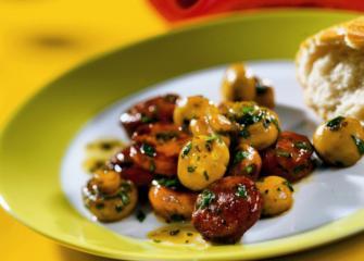 champignons mit chorizo