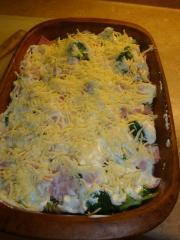 champignons nudelauflauf mit spinat und räuchertofu