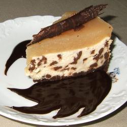 cheesecake mit schokolade und birnen