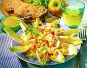 chicoree salat mit krabben