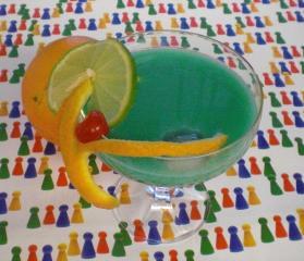 cocktail blue lady mit eiweiß