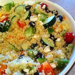 couscous salat auf griechische art für viele leute