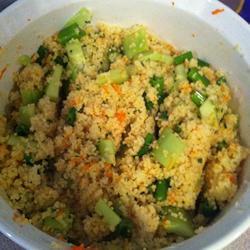 couscous salat mit feta und petersilie