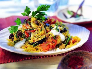 couscous salat mit safran