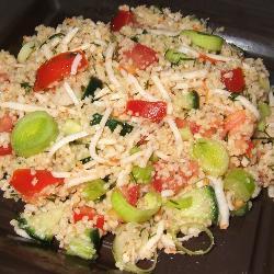 couscous salat mit surimi