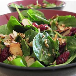 cranberry spinat salat
