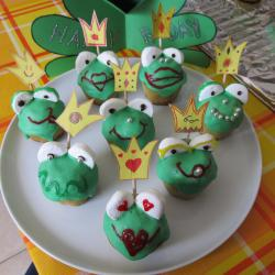 cup cake froschkönig